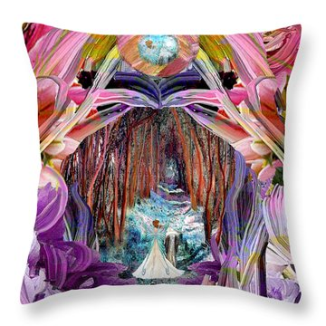 Fairy And Unicorn  Throw Pillow by Michele Avanti