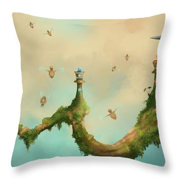 Fairy Chess Throw Pillow