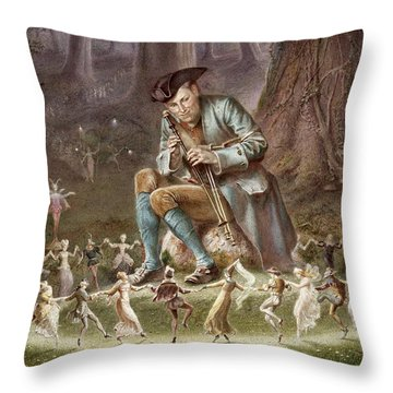 Fairy Dance Throw Pillow by William Holmes Sullivan