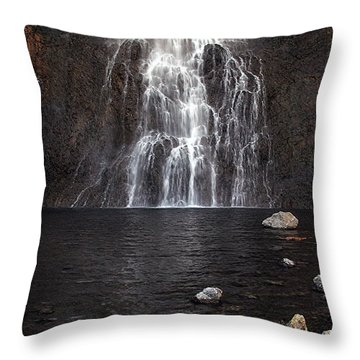 Throw Pillow featuring the photograph Fairy Falls - Yellowstone National Park by Craig J Satterlee