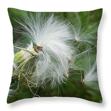 Fairy Flower Throw Pillow