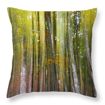 Fairy Forest I Throw Pillow by Yuri Santin