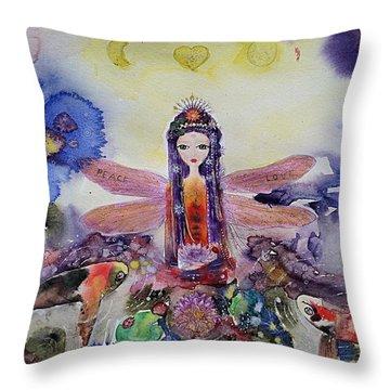 Fairy Garden  Throw Pillow