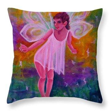 Fairy Glen Throw Pillow