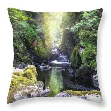 Fairy Glen - Wales Throw Pillow