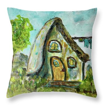 Fairy Home Throw Pillow