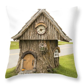 Fairy House In Vermont Throw Pillow