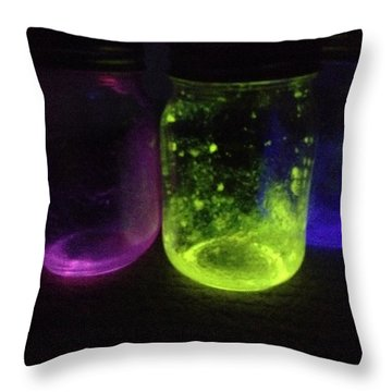 Fairy Jars Throw Pillow