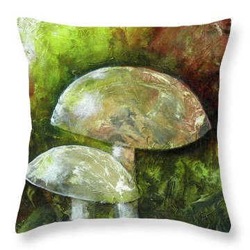 Fairy Kingdom Toadstool Throw Pillow by Terry Honstead