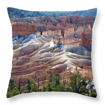 Fairy Land Hoodoos Throw Pillow by Amelia Racca