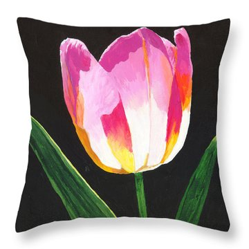 Throw Pillow featuring the painting Fairy Lantern by Rodney Campbell