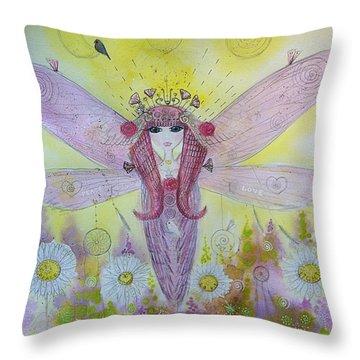 Fairy Messenger  Throw Pillow