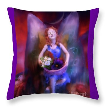 Fairy Of The Garden Throw Pillow
