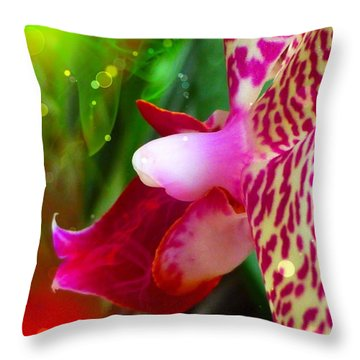 Throw Pillow featuring the photograph Fairy Orchid by Cindy Greenstein
