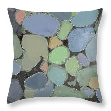 Throw Pillow featuring the digital art Fairy Pool by Gina Harrison