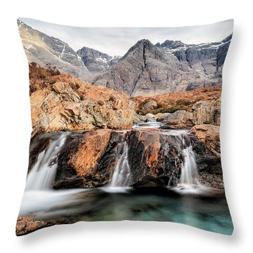 Throw Pillow featuring the photograph Fairy Pools by Grant Glendinning