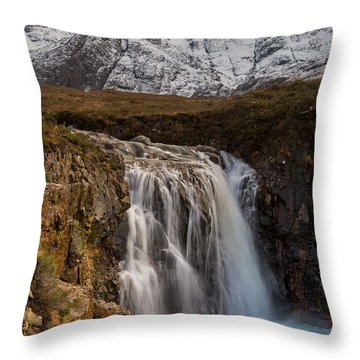 Fairy Pools Waterfall, Isle Of Skye Throw Pillow
