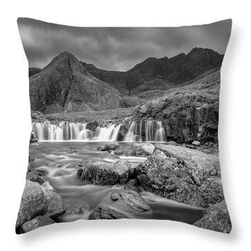 Fairy Pools Waterfall Throw Pillow