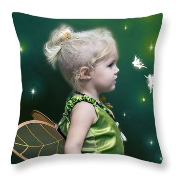 Fairy Princess Throw Pillow by Brian Wallace