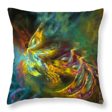 Throw Pillow featuring the digital art Fairy by Sipo Liimatainen