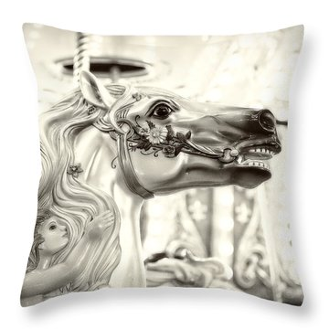 Fairy Steed Throw Pillow by Caitlyn  Grasso