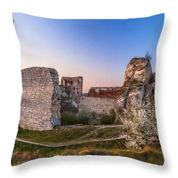 Throw Pillow featuring the photograph Fairy Tale Castle Remnants by Julis Simo