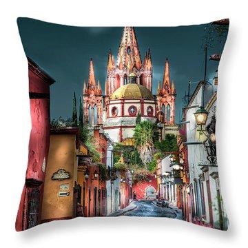 Fairy Tale Street Throw Pillow