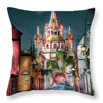 Fairy Tale Street Throw Pillow