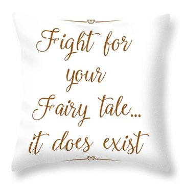 Fairy Tale Throw Pillow by Unknown