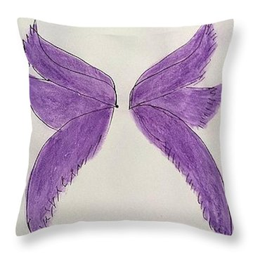 Fairy Wings For Sale Throw Pillow