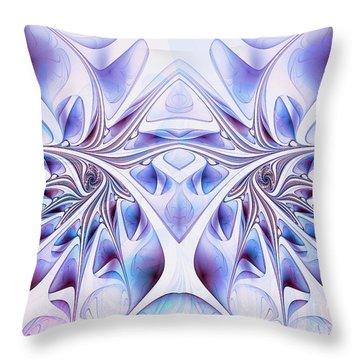 Throw Pillow featuring the digital art Fairy Wings by Jutta Maria Pusl