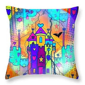 Fairyland By Nico Bielow Throw Pillow