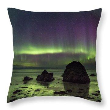 Fairytale Beach Throw Pillow