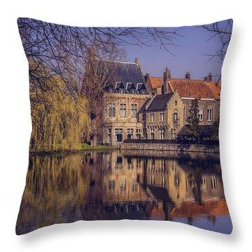 Fairytale Bruges  Throw Pillow