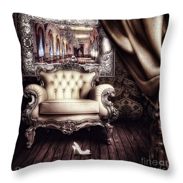 Fairytale Throw Pillow by Mo T