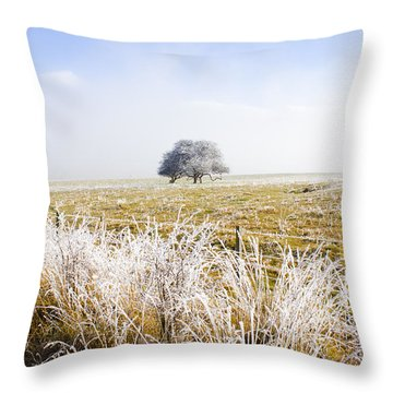 Throw Pillow featuring the photograph Fairytale Winter In Fingal by Jorgo Photography - Wall Art Gallery