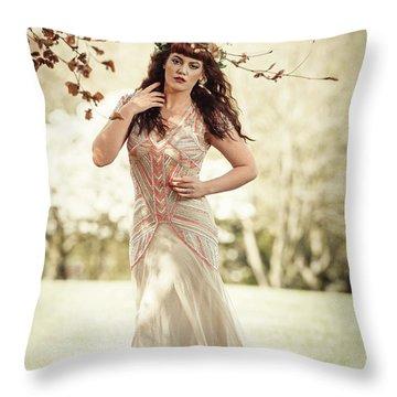 Fairytale Woman Throw Pillow