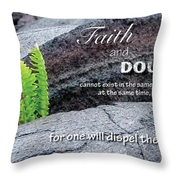 Faith And  Doubt Throw Pillow by Denise Bird