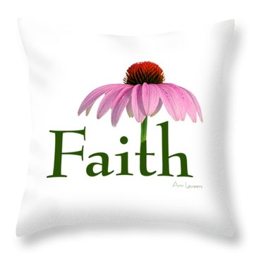 Faith Coneflower Shirt Throw Pillow