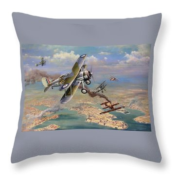 Faith Hope And Charity Throw Pillow by Colin Parker