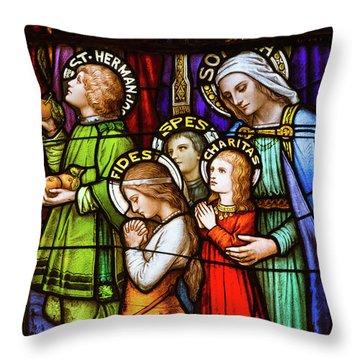 Faith, Hope, And Charity Throw Pillow
