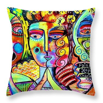 Faith Hope And Charity Throw Pillow