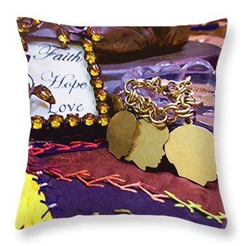 Faith Hope Love 4 Throw Pillow