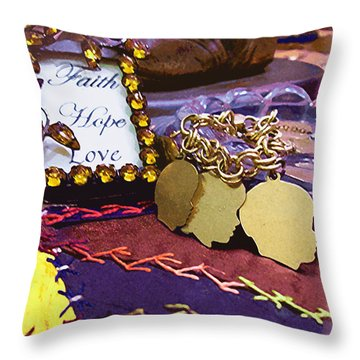 Throw Pillow featuring the photograph Faith Hope Love 4 by Kate Word