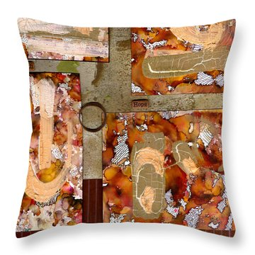 Faith Hope Love Throw Pillow by Angela L Walker