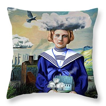Throw Pillow featuring the digital art Faith In The Future by Alexis Rotella