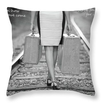 Faith In Your Journey Throw Pillow by Barbara West
