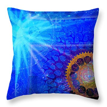 Throw Pillow featuring the digital art Faith by Kenneth Armand Johnson