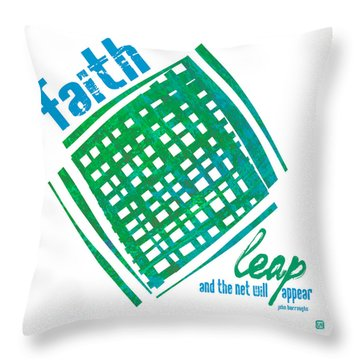 Throw Pillow featuring the painting Faith by Lisa Weedn