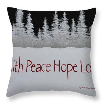 Faith, Peace, Hope, Love Throw Pillow